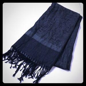 Gray & Black pashmina scarf